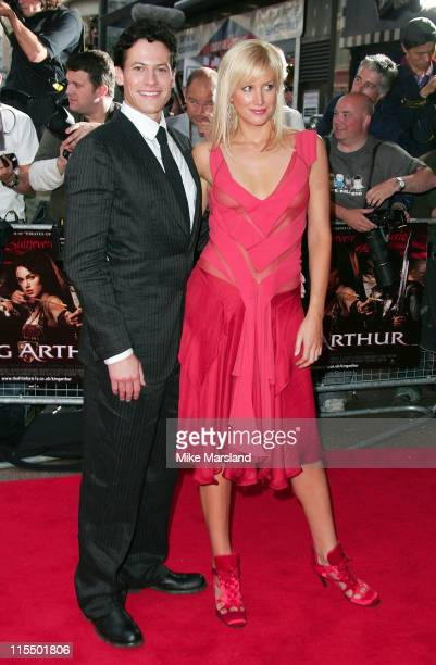 Ioan Gruffudd and Alice Evans during 'King Arthur' London Premiere Arrivals at Empire Leicester Square in London Great Britain