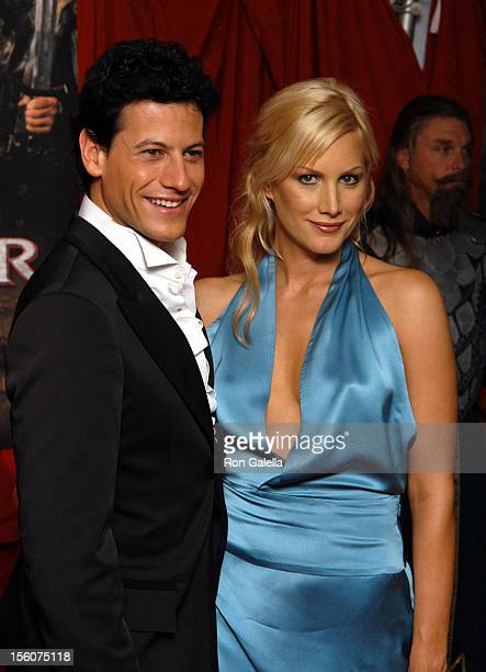 Ioan Gruffudd and Alice Evans during 'King Arthur' New York Premiere Outside Arrivals at Ziegfeld Theatre in New York City New York United States
