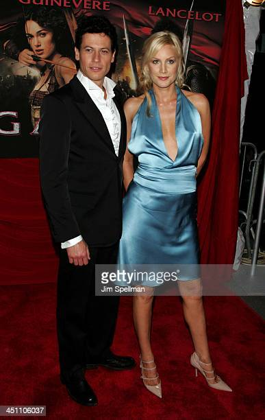 Ioan Gruffudd and Alice Evans during King Arthur New York Premiere Outside Arrivals at Ziegfeld Theatre in New York City New York United States