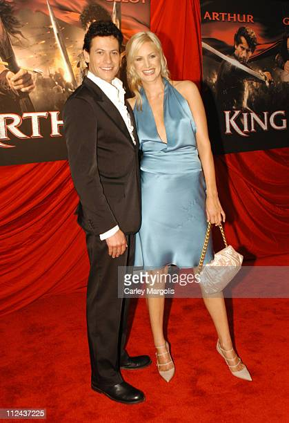Ioan Gruffudd and Alice Evans during 'King Arthur' World Premiere Outside Arrivals at The Ziegfeld Theatre in New York City New York United States