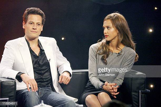 Ioan Gruffudd and Jessica Alba during Take 40com 'Fantastic Four Rise of the Silver Surfer' May 2 2007 at Entertainment Quarter in Sydney NSW...