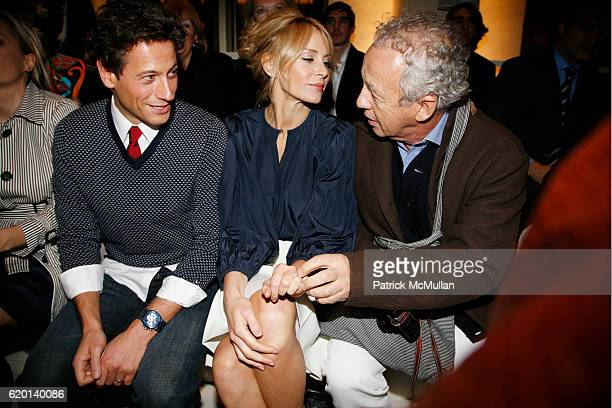Ioan Gruffudd Dee Ocleppo and Gilles Bensimon attend TOMMY HILFIGER Fall 2008 Fashion Show at Avery Fisher Hall on February 7 2008 in New York City