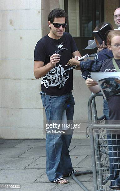 Ioan Gruffudd during Celebrity Sightings at the Dorchester Hotel July 16 2005 at Dorchester Hotel in London Great Britain