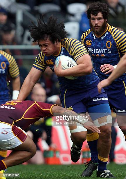 Ioane of Otago on the charge during the round seven ITM Cup match between Otago and Southland at Forsyth Barr Stadium on September 28 2013 in Dunedin...