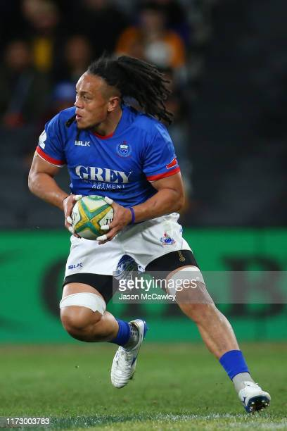 Ioane of Samoa runs the ball during the International Test match between the Australian Wallabies and Manu Samoa at Bankwest Stadium on September 07...