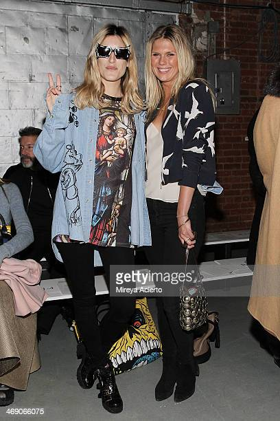 Ioanna Gika and Alexandra RIchards attend the Sass Bide fashion show during MercedesBenz Fashion Week Fall 2014 at The Waterfront on February 12 2014...