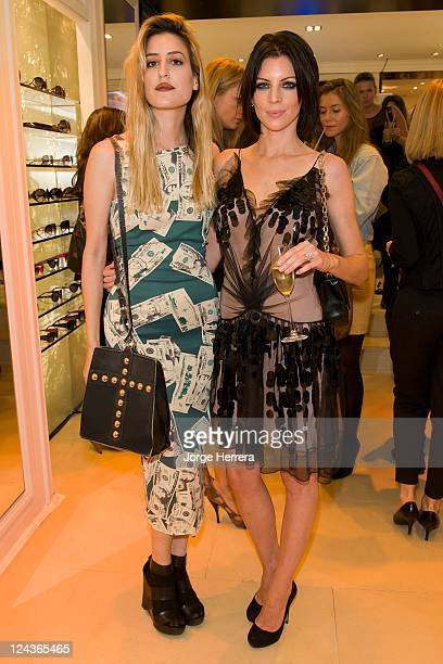 Ioanna Gika and Liberty Ross take part in Dior's Vogue Fashion's Night Out at the Dior Boutique on Bond Street on September 8 2011 in London England