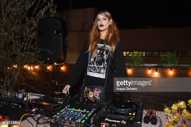 Ioanna Gika attends the Flaunt Magazine Dinner with Nike and Revolve on February 15 2018 in Los Angeles California