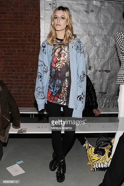 Ioanna Gika attends the Sass Bide fashion show during MercedesBenz Fashion Week Fall 2014 at The Waterfront on February 12 2014 in New York City