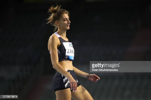 Ioanna Zakka of Grrece competes in the High jump competition during the Memorial Van Damme Brussels 2020 Diamond League meeting at King Baudouin...