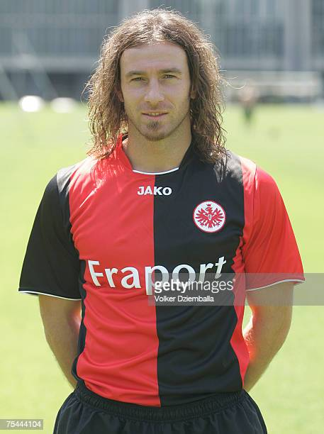 Ioannis Amanatidis attend the team presentation of the Eintracht Frankfurt at the Commerzbank Arena on July 16 2007 in Frankfurt Germany