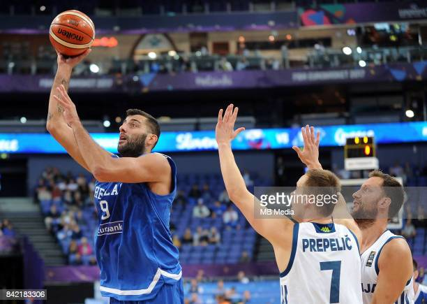 Ioannis Bourousis of Greece Klemen Prepelic of Slovenia during the FIBA Eurobasket 2017 Group A match between Slovenia and Greece on September 3 2017...