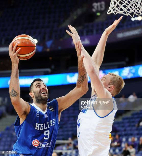 Ioannis Bourousis of Greece Tryggvi Hlinason of Iceland during the FIBA Eurobasket 2017 Group A match between Iceland and Greece on August 31 2017 in...