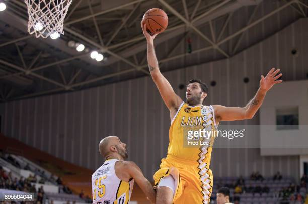 Ioannis Bourousis of Guang Sha in action during the 2017/2018 CBA League match between Beijing Begcl and Guang Sha at Beijing Olympic Sports Center...