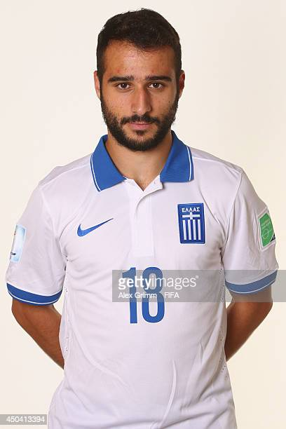 Ioannis Fetfatzidis of Greece poses during the official FIFA World Cup 2014 portrait session on June 10 2014 in Aracaju Brazil