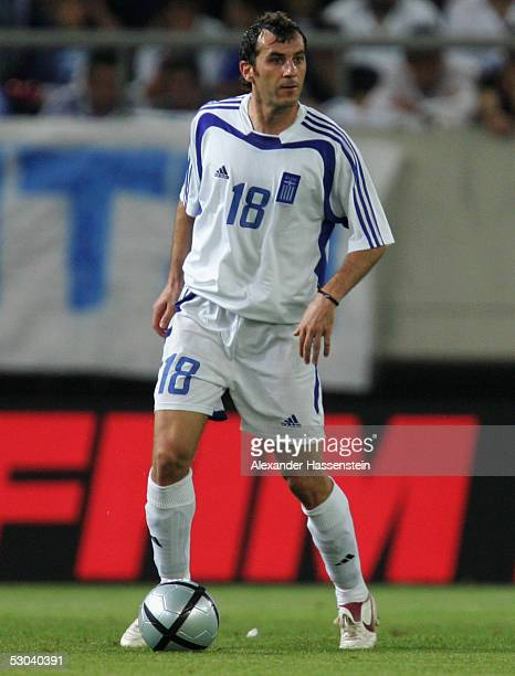 Ioannis Goumas of Greece in action during the FIFA World Cup 2006 Qualifier between Greece and Ukraine on June 8 2005 in Athens Greece