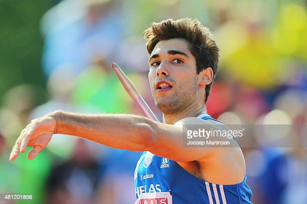 Ioannis Kiriazis of Greece competes during the Men's Javelin Throw final at Ekangen Arena on July 18 2015 in Eskilstuna Sweden