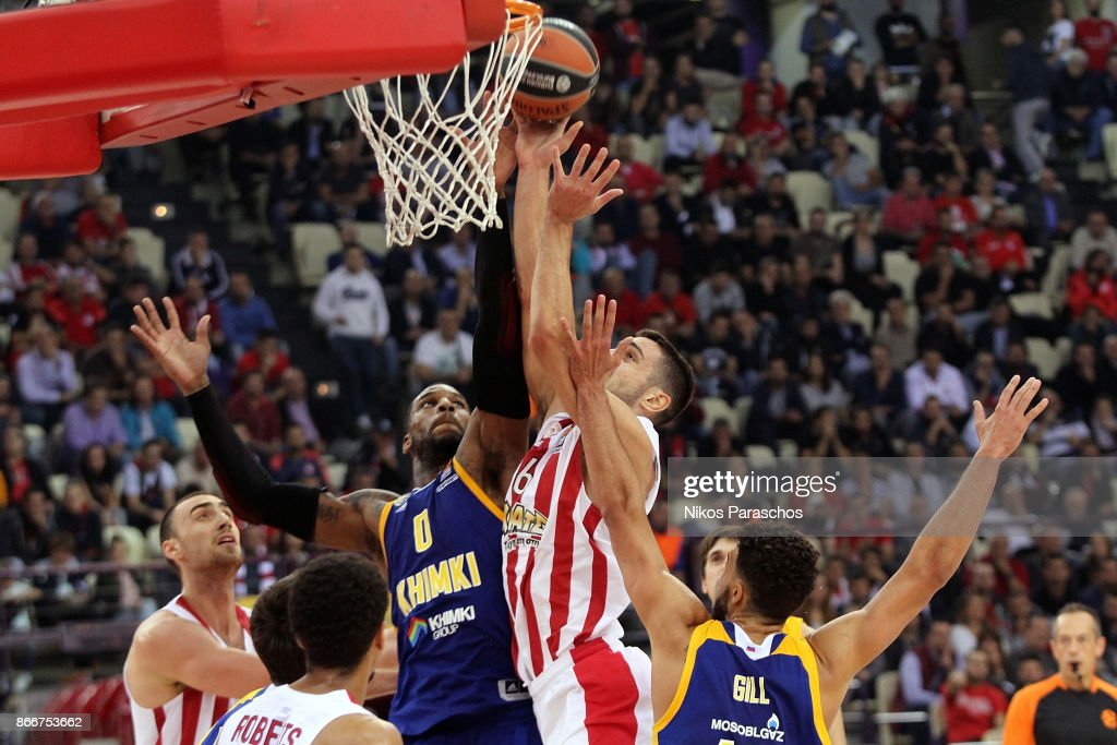 Olympiacos Piraeus v Khimki Moscow Region - Turkish Airlines EuroLeague
