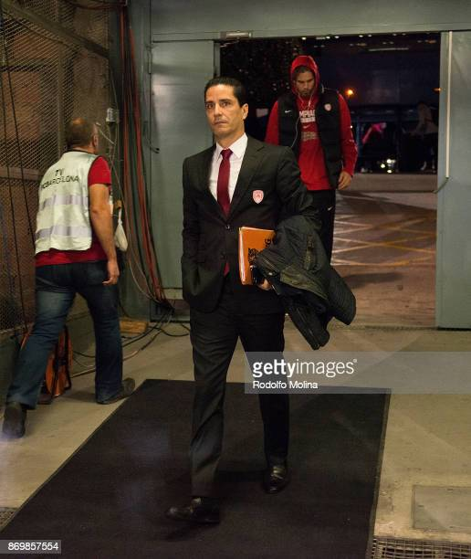 Ioannis Sfairopoulos Head Coach of Olympiacos Piraeus arrive to the arena prior the 2017/2018 Turkish Airlines EuroLeague Regular Season Round 5 game...