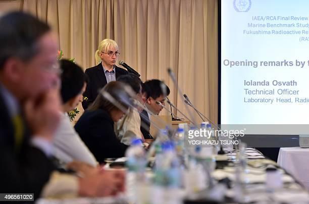 Iolanda Osvath International Atomic Energy Agency Environment Laboratories radiometrics head speaks during a review meeting of Japan's marine...