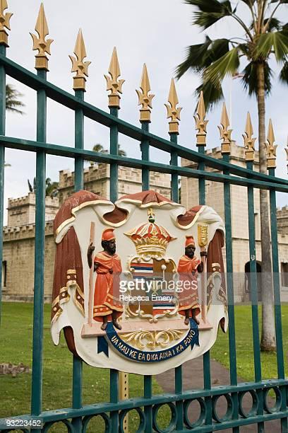 iolani palace, honolulu, oahu, hawaii, usa - emery stock photos and pictures