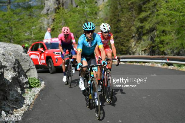 Ion Izaguirre of Spain and Astana Pro Team / Fausto Masnada of Italy and Team Androni Giocattoli Sidermec / during the 102nd Giro d'Italia 2019 Stage...