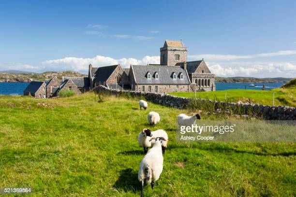Iona Abbey on Iona, off Mull, Scotland, UK.