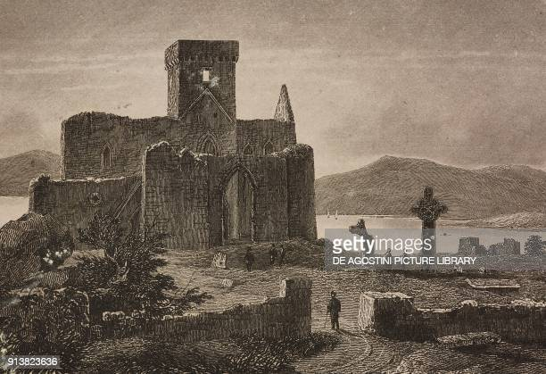 Iona Abbey Scotland United Kingdom engraving by Skelton from Angleterre Ecosse et Irlande Volume IV by Leon Galibert and Clement Pelle L'Univers...