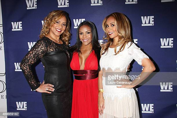 Ione Rucker Ellen Rucker Carter and Ruby Rucker attend SWV Love Thy Sister And Match Made In Heaven Red Carpet Event at 54 Below on December 4 2014...