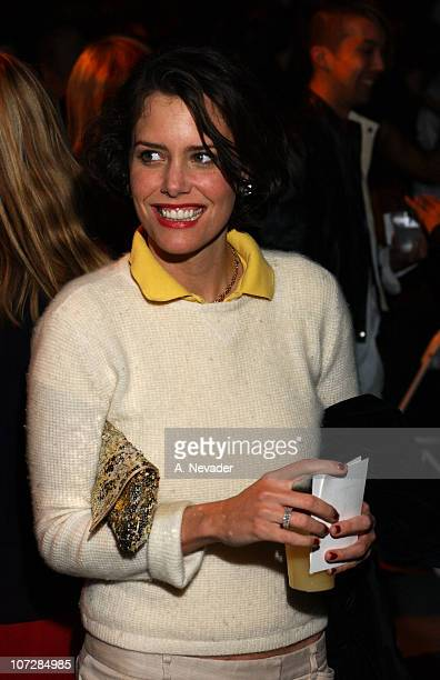 Ione Sky during Jeremy Scott Spring/Summer 2003 Fashion Show Venus Rising Arrivals and Seating at MOCA at the Geffen Contemporary Museum in Los...
