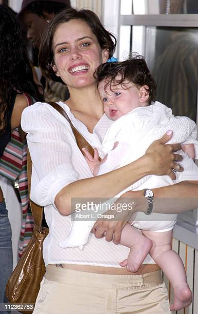 Ione Skye and daughter Kate during Opening of Airstream Diner in Beverly Hills at Airstream Diner in Beverly Hills California United States