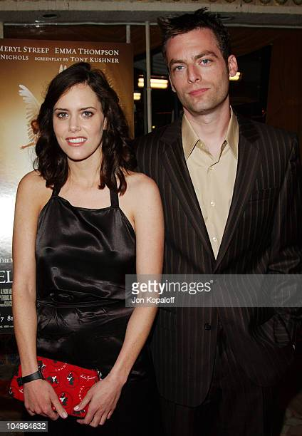 Ione Skye and Justin Kirk during Los Angeles Premiere of HBO Films' Angels In America at Mann's Village Theatre in Westwood California United States