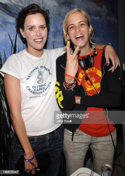 Ione Skye and Samantha Ronson during Ultimatebetcom Kari Feinstein and Mike McGuiness Host Celebrity Poker Tournament to Honor Clifton Collins Jr's...