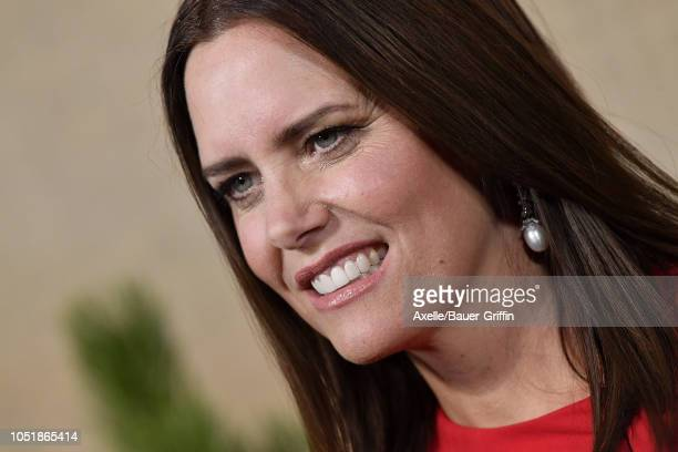 Ione Skye attends the Los Angeles premiere of HBO series 'Camping' at Paramount Studios on October 10 2018 in Hollywood California