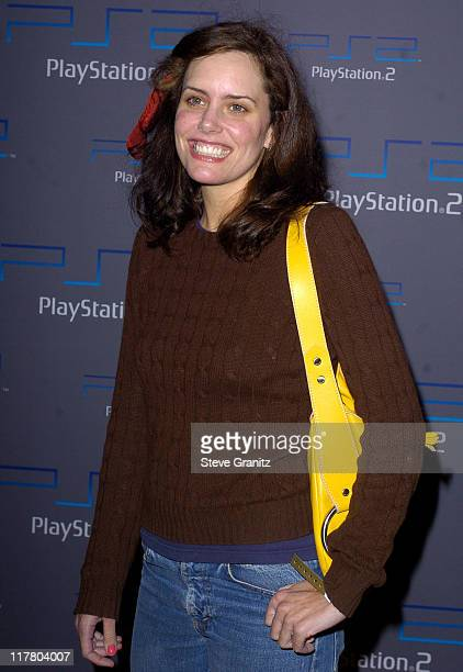 Ione Skye during Playstation 2 Offers A Passage Into The Underworld Arrivals at Belasco Theatre in Los Angeles California United States