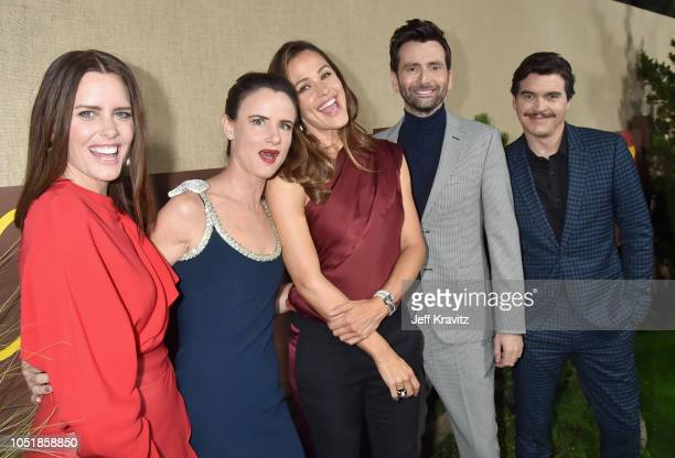 Ione Skye Juliette Lewis Jennifer Garner David Tennant and Arturo Del Puerto attend HBO's Los Angeles premiere of Camping at Paramount Studios on...