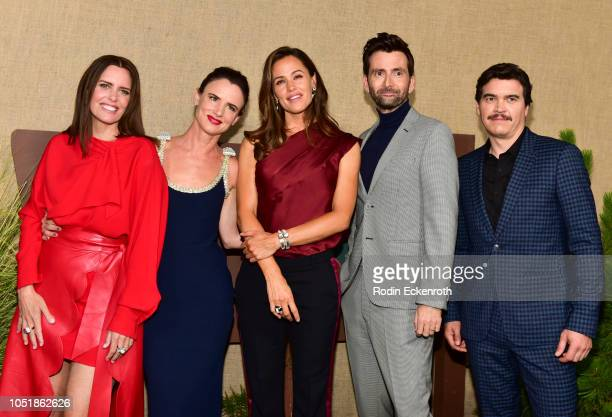 Ione Skye Juliette Lewis Jennifer Garner David Tennant and Arturo Del Puerto attend the Los Angeles premiere of HBO series Camping at Paramount...