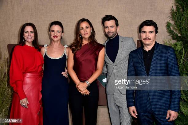 Ione Skye Juliette Lewis Jennifer Garner David Tennant and Arturo Del Puerto attend the Los Angeles premiere of the HBO Series Camping at Paramount...