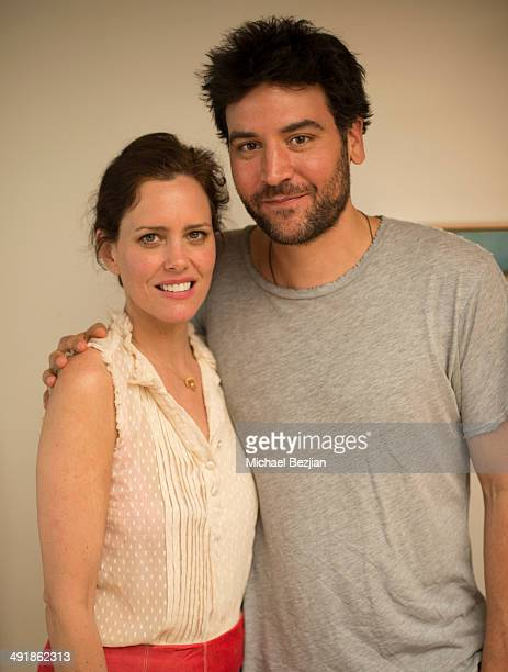 Ione Skye poses for a picture with Josh Radnor at Ione Skye's book launch and benefit for her first Book My Yiddish Vacation on May 17 2014 in Los...