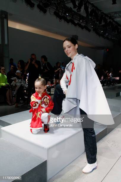 Ioni James Conran and Coco Rocha attend the China Day Anta Kids front row during New York Fashion Week The Shows on September 08 2019 in New York City