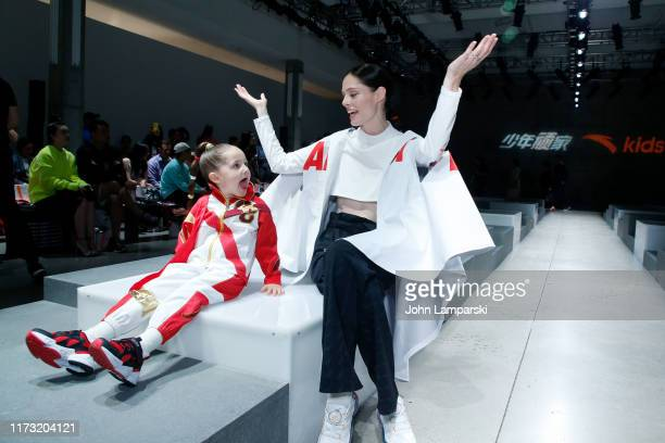 Ioni James Conran and Coco Rocha walk the runway for China Day Anta Kids during New York Fashion Week The Shows on September 08 2019 in New York City