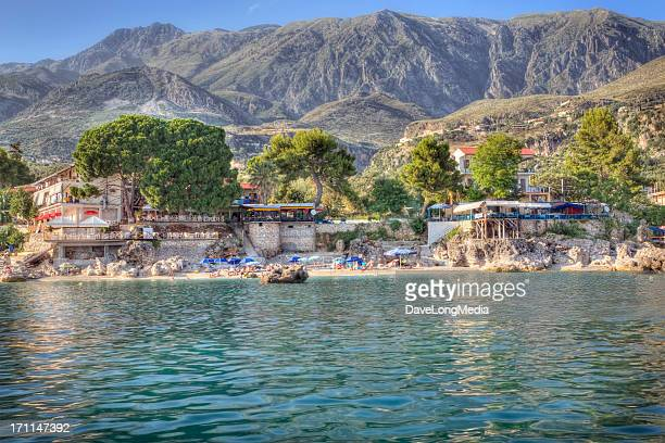 ionian coast - albania stock pictures, royalty-free photos & images