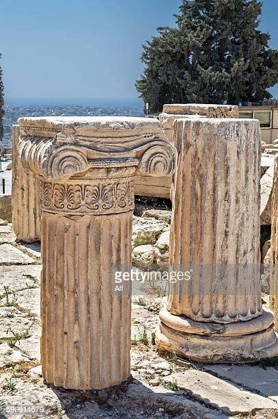 Ionic columns on the Acropolis in Athens