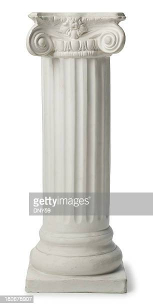 ionic greek column or pedestal - greece stock pictures, royalty-free photos & images