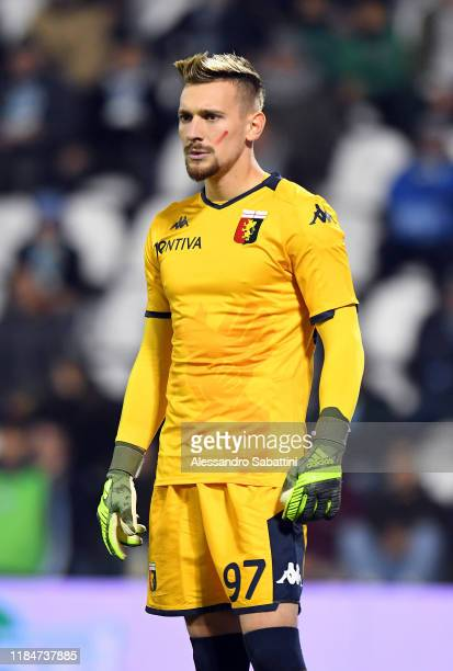 Ionut Radu of Genoa CFC looks on during the Serie A match between SPAL and Genoa CFC at Stadio Paolo Mazza on November 25 2019 in Ferrara Italy