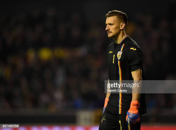 Ionut Radu of Romania during the International Friendly between England U21 and Romania U21 at Molineux on March 24 2018 in Wolverhampton England