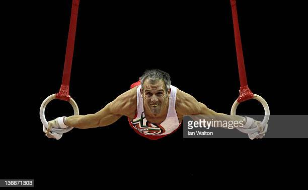 Iordan Iovtchev of Bulgaria in action during day one of the Men's Gymnastics Olympic Qualification round at North Greenwich Arena on January 10 2012...