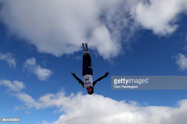 Iori Usui of Japan jumps during practice in the Ladies' Aerials during the 2018 FIS Freestyle Ski World Cup at Deer Valley Resort on January 12 2018...