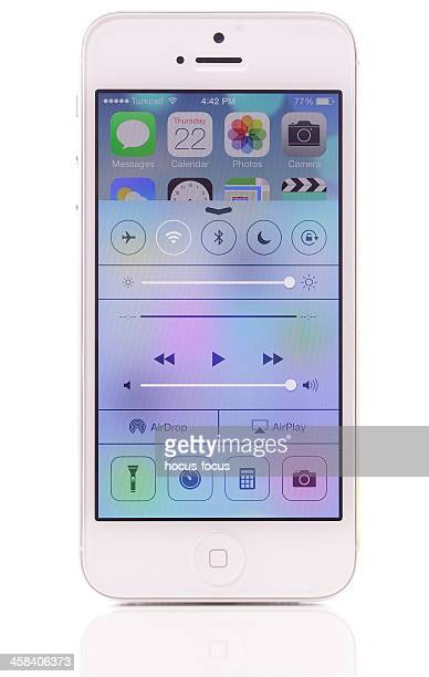 Centre de contrôle iOS 7 écran sur iPhone 5