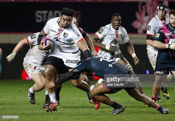 Iosefa Tekori aka Joe Tekori of Stade Toulousain in action during the Top 14 rugby match between Stade Francais Paris and Stade Toulousain at Stade...